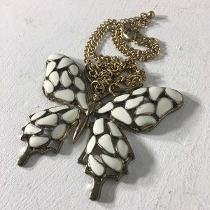 Vintage Butterfly 🦋 Statement Pendant Necklace